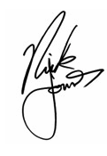 Nick Jonas Signature