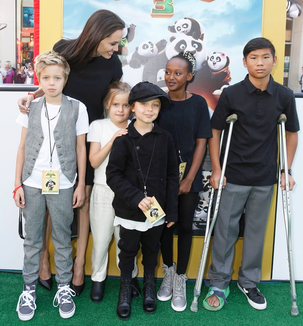 Angelina Jolie Family Picture, Father, Kids, Age