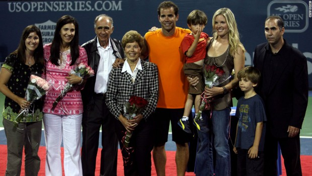 Pete Sampras Family Photos, Father, Wife, Son, Height